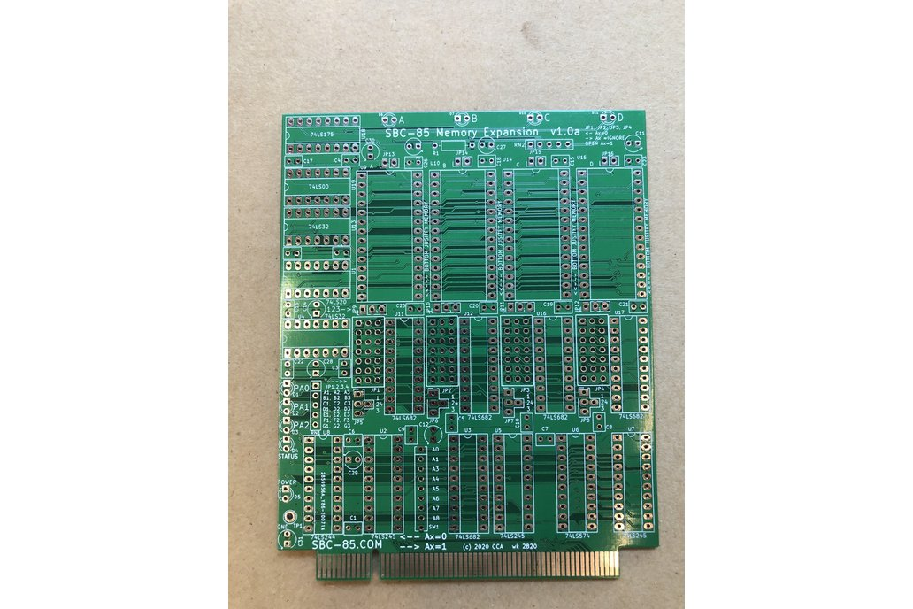 SBC-85 Memory Expansion -4x Universal Memory Sites 1