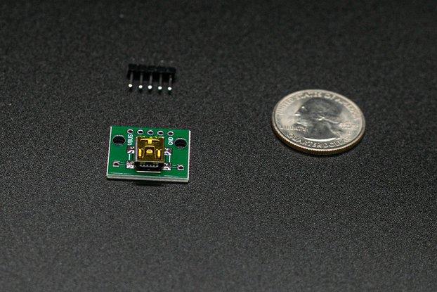 USB Mini-B Breakout Module w/ Header Pins