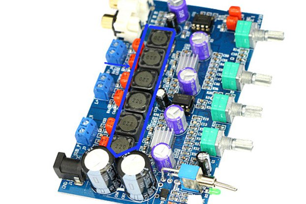 Hi-Fi   Amplifier Board 100W subwoofer + 50W+50W