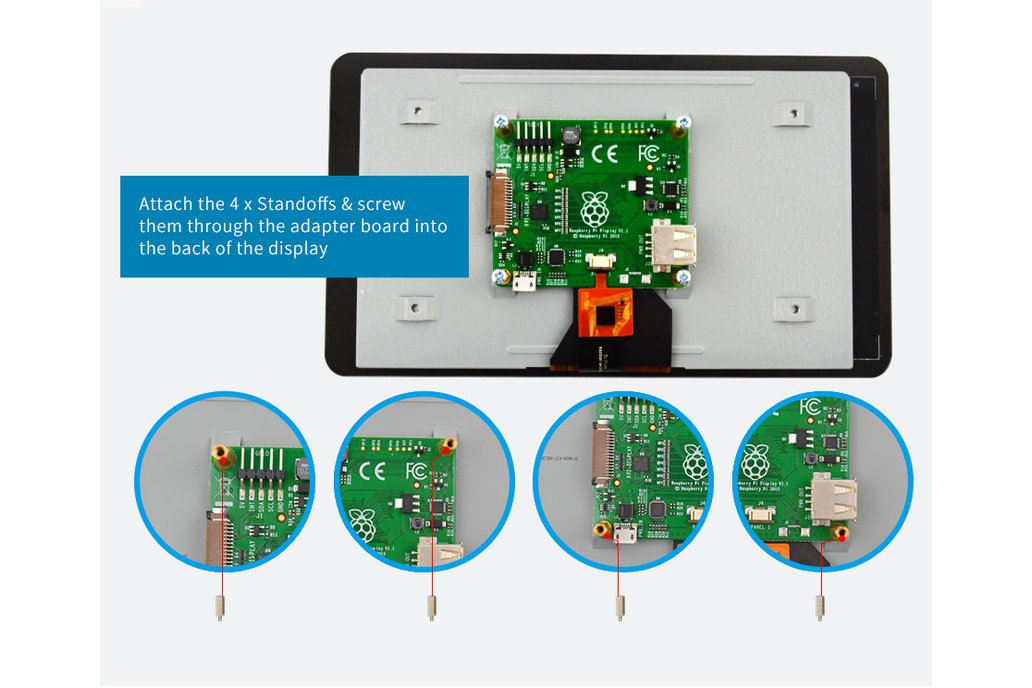 Official Raspberry Pi 7 Inch TFT LCD Touch Screen 5