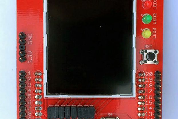 "2.2"" Color LCD Educational BoosterPack"