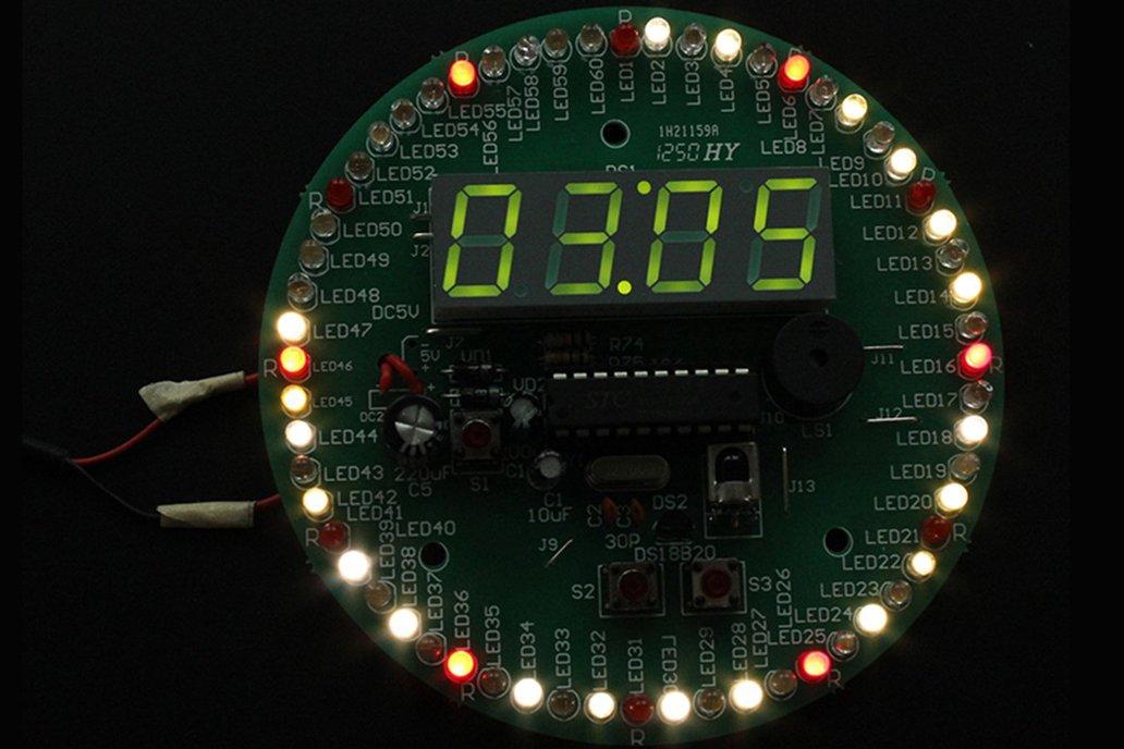4 Digit 60S Rotary Electronic Clock DIY Kit 1