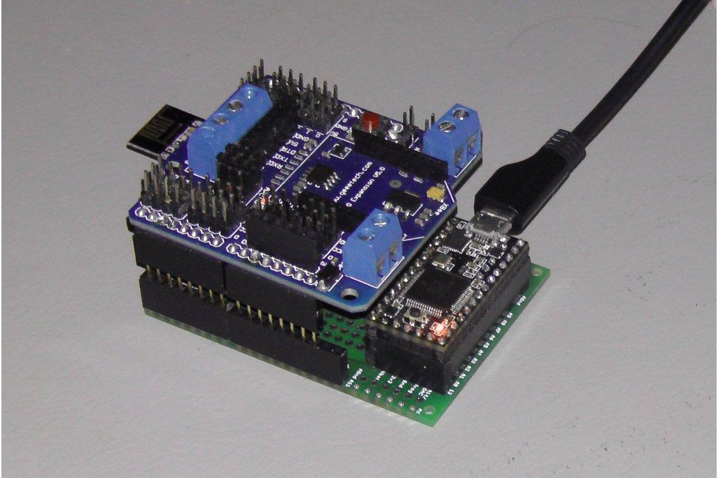 Teensy 3/LC Proto board, Arduino Shield, nRF24L01+ 6