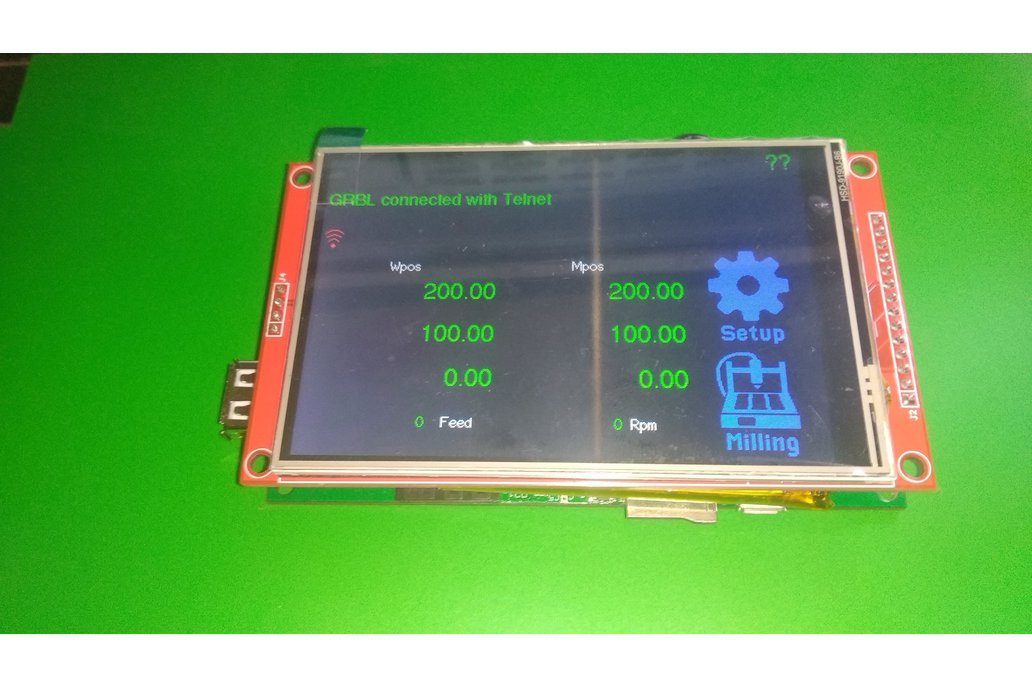 "4.0"" touch screen Universal GRBL CNC Pendant 1"