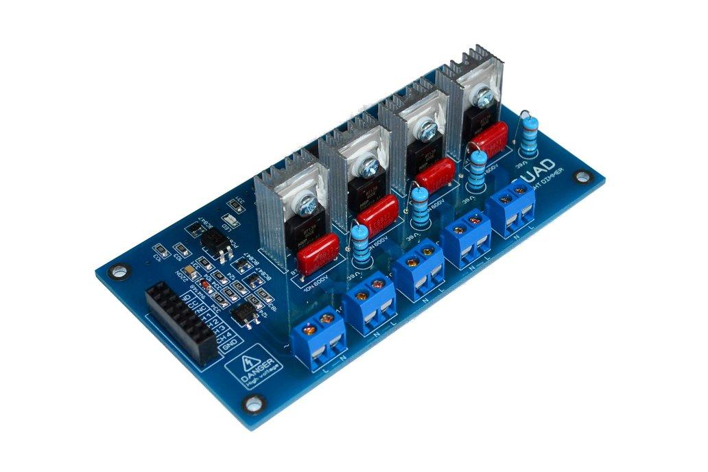 4CH AC LED Light Dimmer V2 Module Controller Board 1