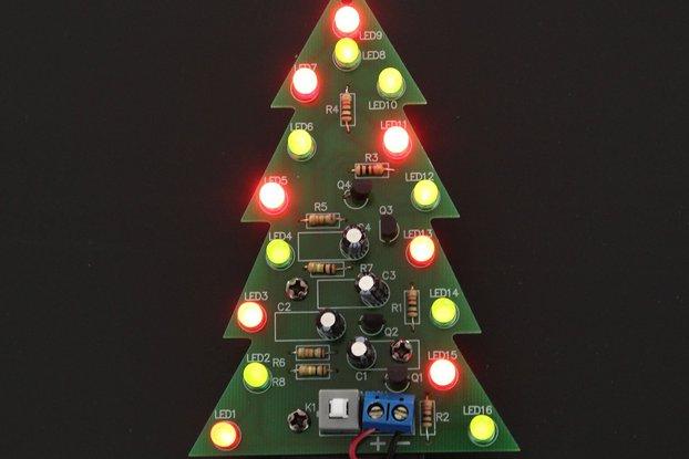 DIY Kit Red Green Flash LED Christmas Tree(5107)