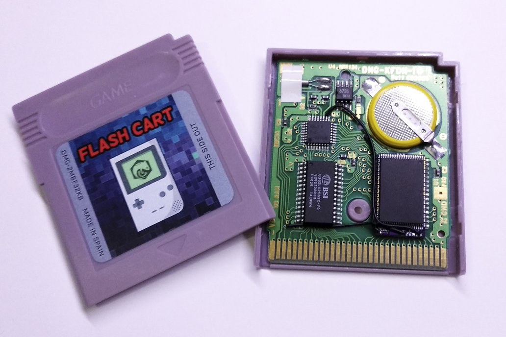 Pre-Modded Flash Cartridge with MBC3 + RTC (Timer) 1