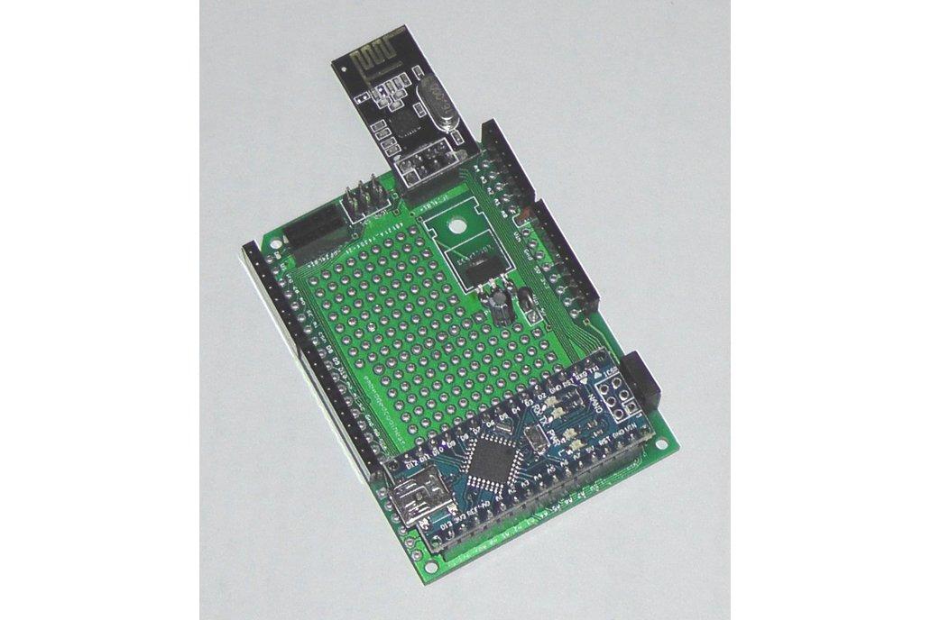 Nano 3 board w/ shield breakout, proto, nRF24L01+ 1