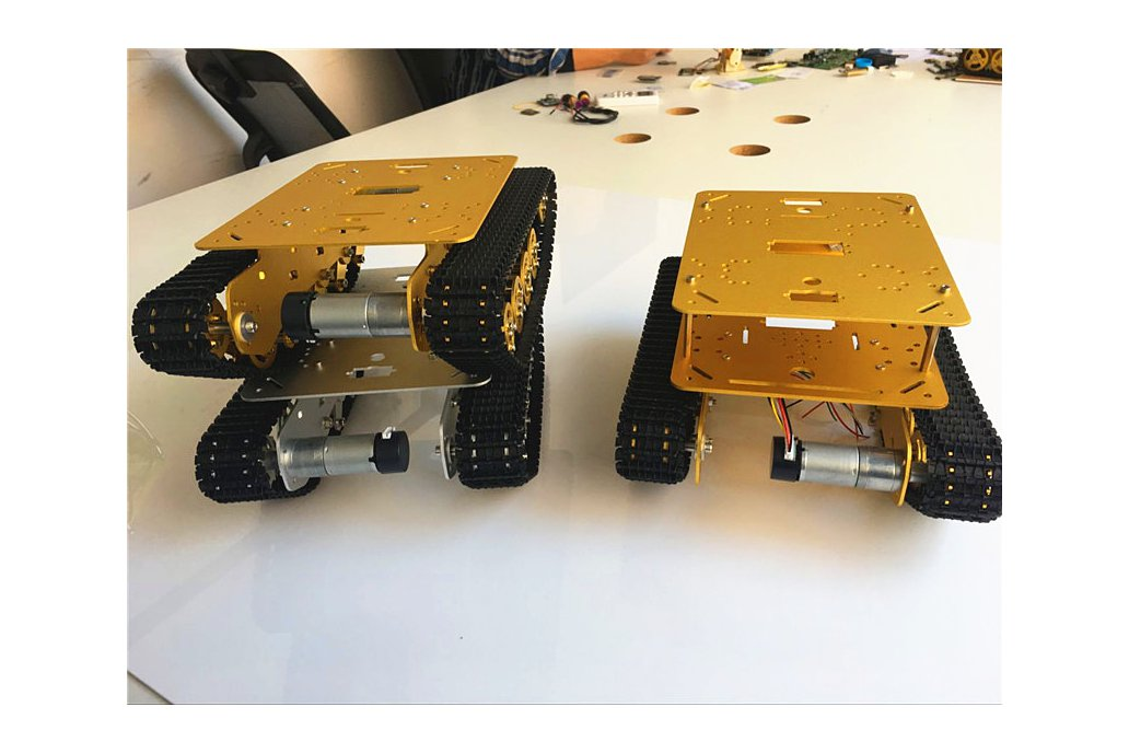 Double Panel Metal Shock Absorption Robot Tank Car 6