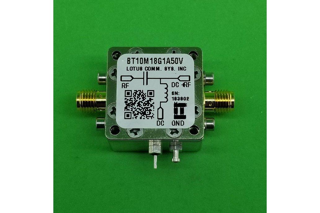 Bias Tee Broadband 10 MHz to 18 GHz (Max. 1A) 50V 1