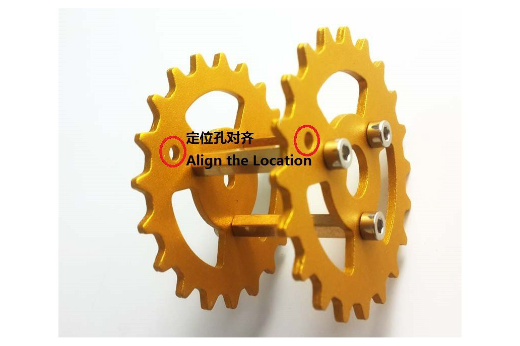 Metal Driving Wheel for Robot Tank Car Chassis 4