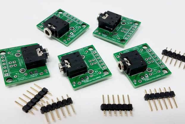 3.5mm Breakout Board: stereo - 5 pack