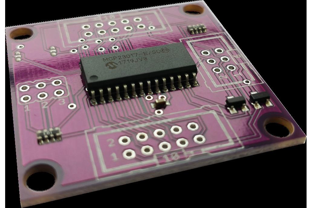16-bit i2c GPIO expander board for Arduino 1
