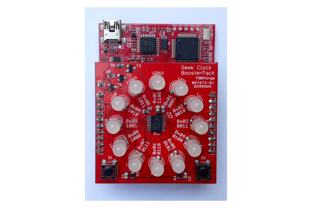 Geek Clock BoosterPack PCB 1