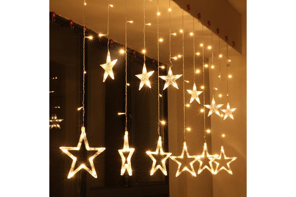 Christmas Lights Fairy Star LED Curtain String 1