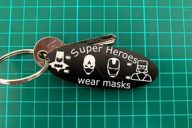 Superheroes 🦸‍♀️ Wear Masks programmable keychain