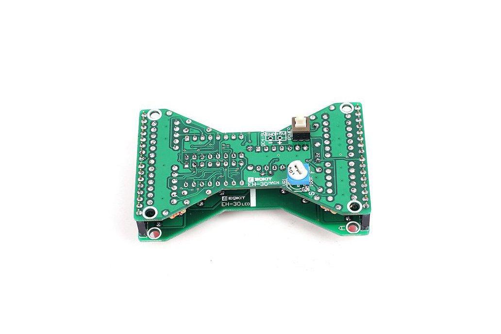 3.3V-5V Red LED Hourglass DIY Kit(13068) 4