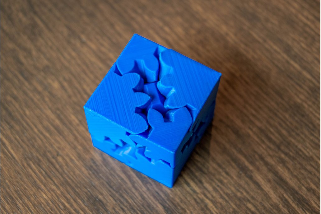 3D Printed Cube Gears Puzzle 2