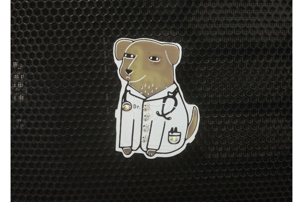 Dogtor pin badge 1