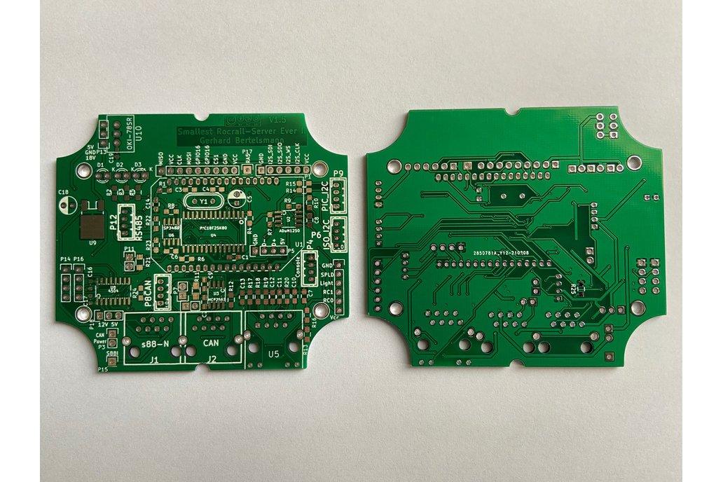 SRSEII (bare) PCB v1.5 for Märklin railbox 1