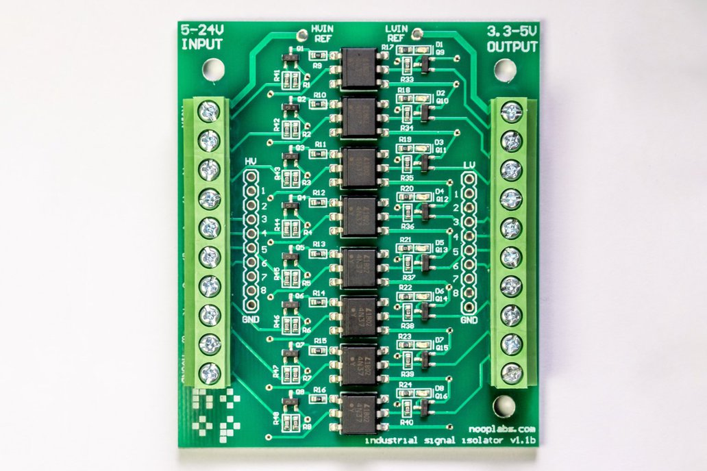 8 ch Opto Isolator board 5-24VDC in, 3.3-5VDC out 1