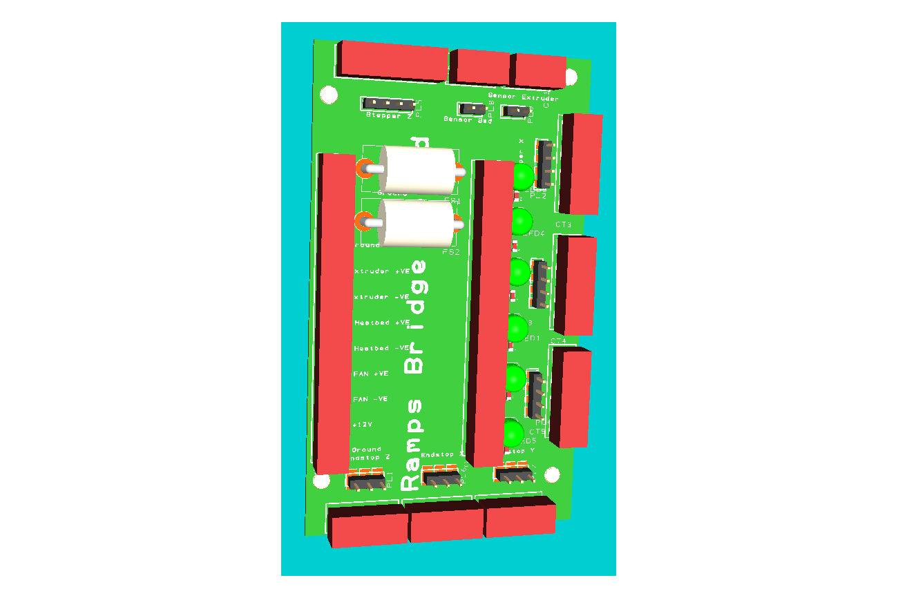 Ramps 3d Printer Controller Bridge Board