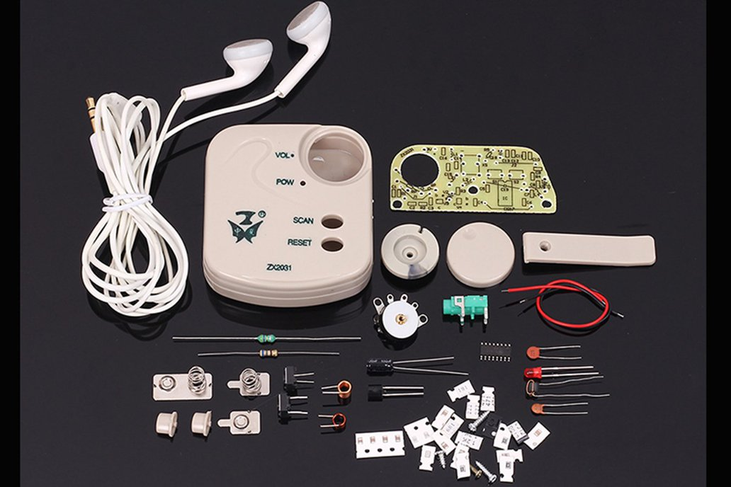 FM Micro SMD LED Radio Suite DIY Kits (9653) 1