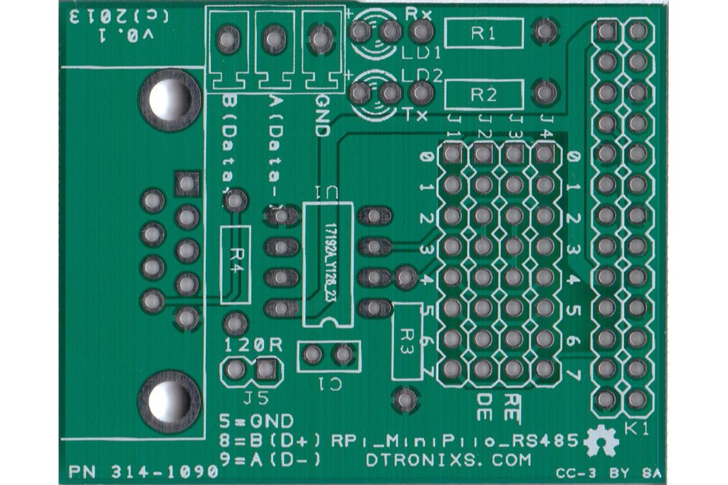 Raspberry PIIO - RS485 add-on board (PCB only) 1
