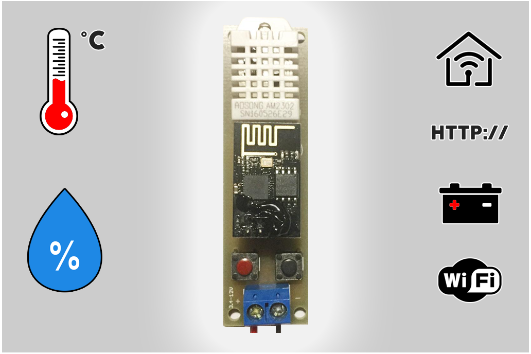 Low Power Temperature and Humidity WiFi tracker s1 1
