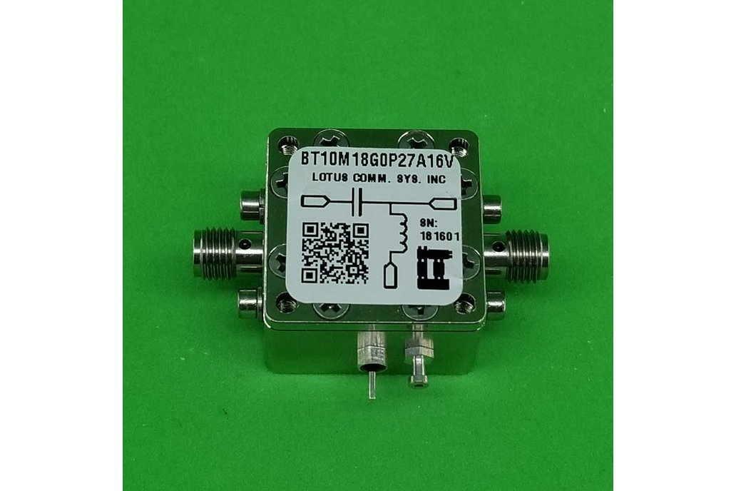 Bias Tee Broadband 10 MHz to 18 GHz 16V 0.27A 1