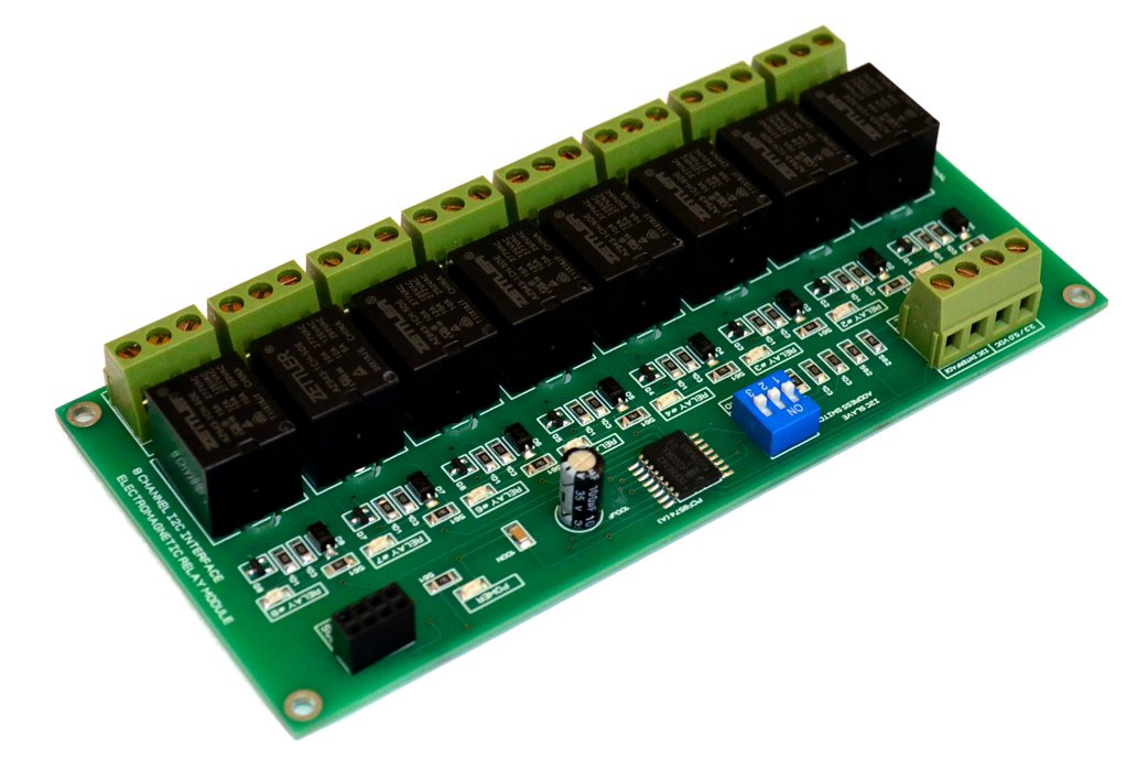 8 Channel I2C Electromagnetic Relay Module for Arduino Raspberry 3.3V 5.0V 10A Peak LEDs Indicators for Each SSR Relay Channel