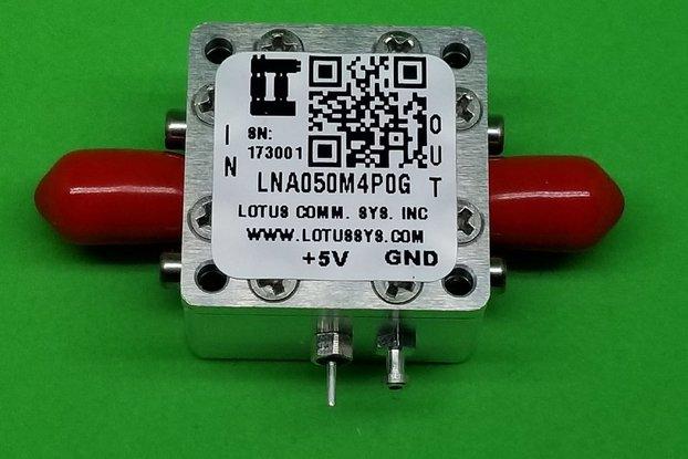 Broadband LNA 0.8dN NF 50MHz~4GHz SMA
