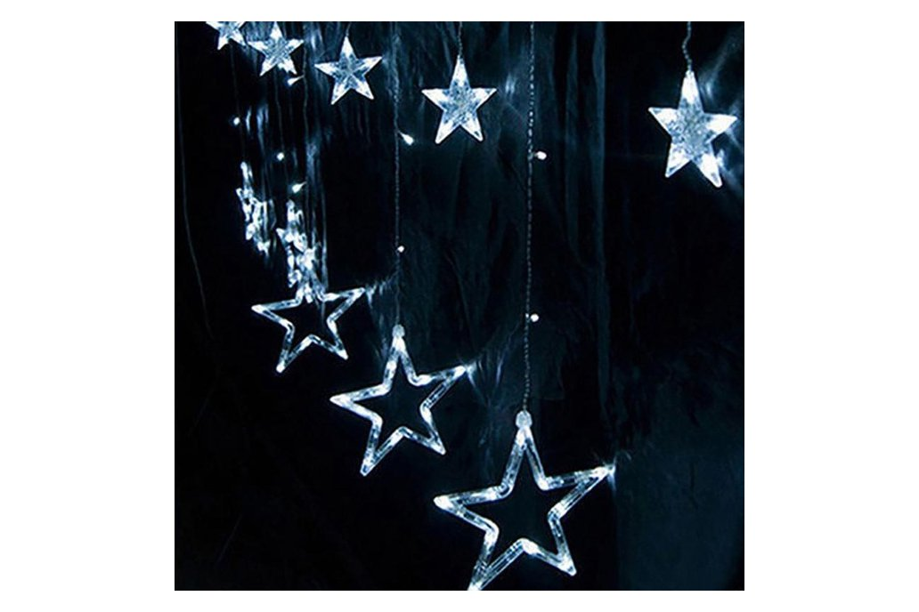 Christmas Lights Fairy Star LED Curtain String 8