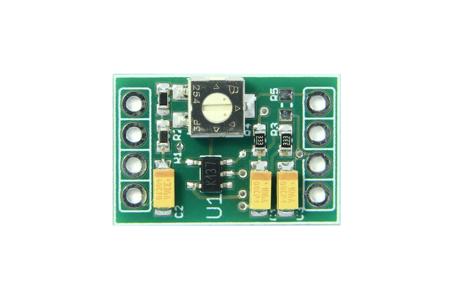 AC coupled, Single Supply, Adjustable-Gain, Preamp
