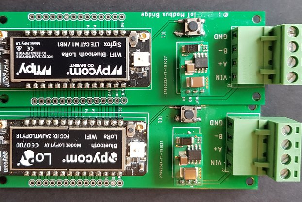 MODBUS RS485 to LoRaWan, NB-IoT, Sigfox or WIFI
