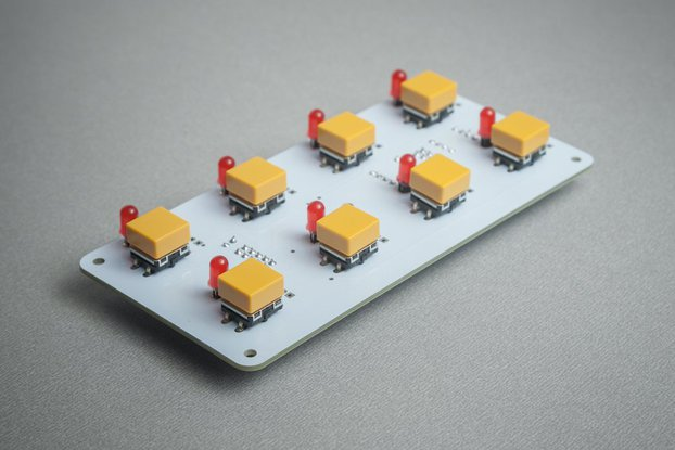 BL42 - 8 (4x2) tactile buttons + LED module