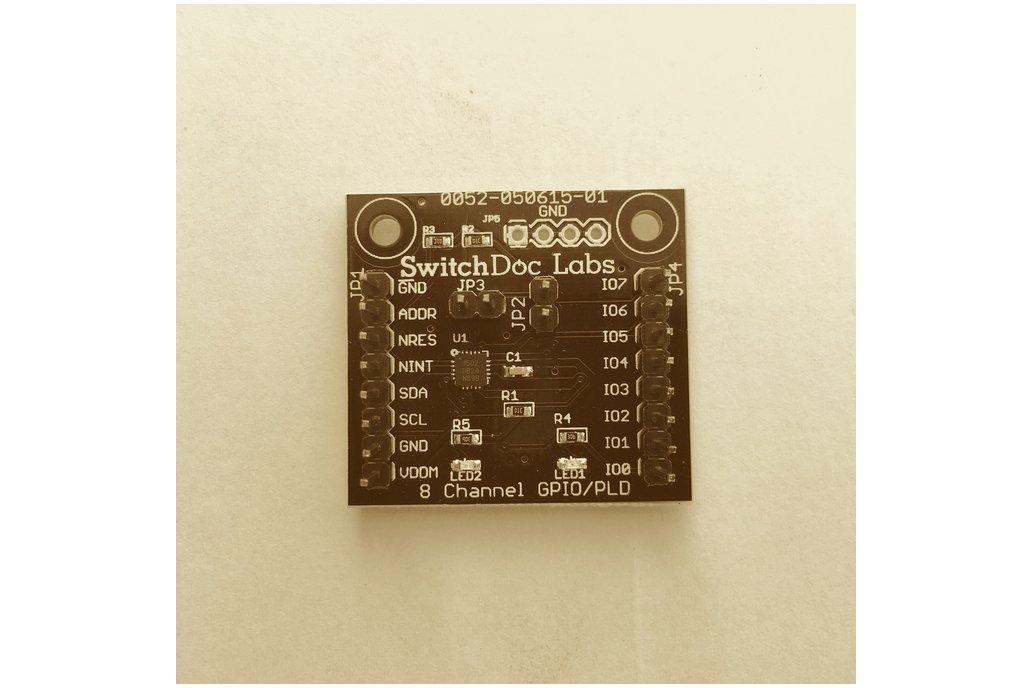 8 GPIO Extender Board - I2C Controlled 1