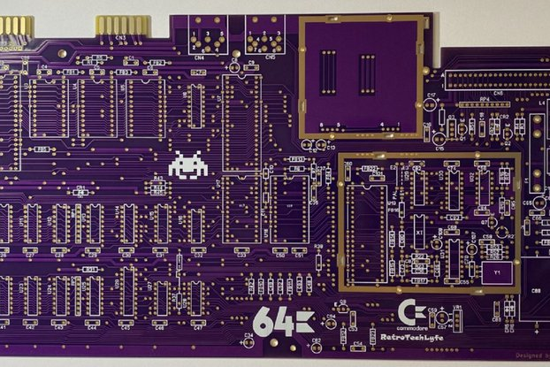 Commodore 64 Logic Board KU-14194HB w/ Gold Traces