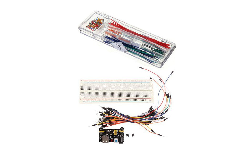 MB-102 Solderless Breadboard + Power Supply + Jump 1