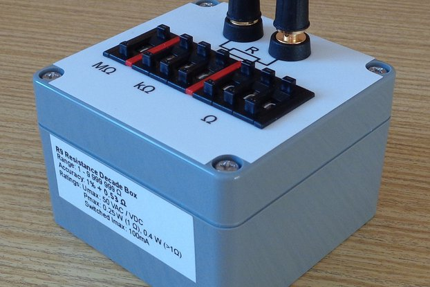 Resistance decade box (Resistor substitution box)