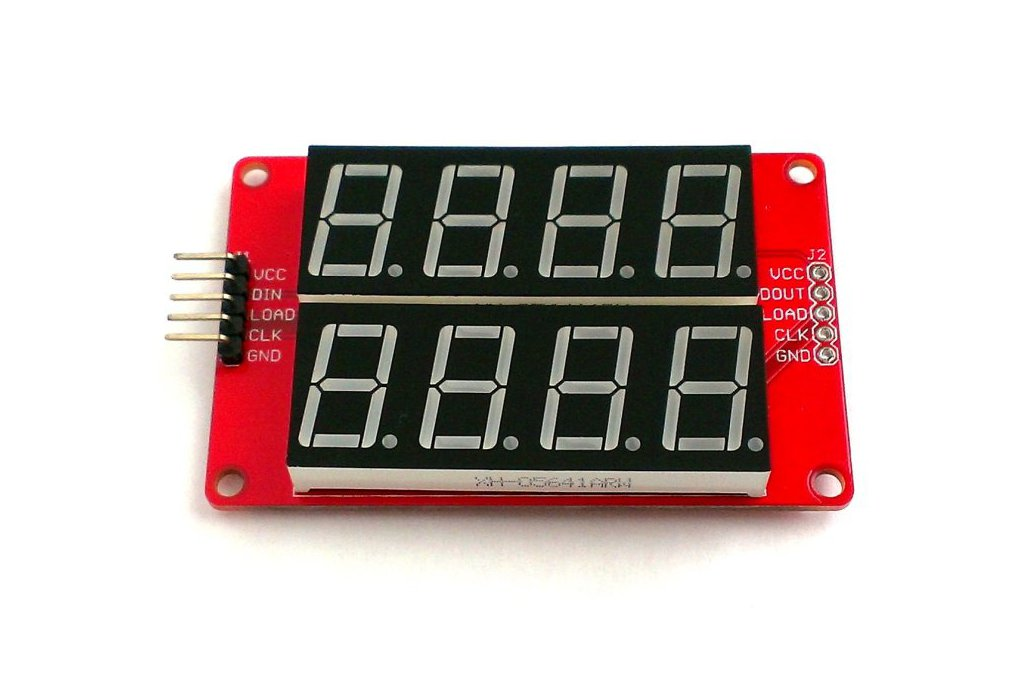 Double row 4-digit seven segment LED display-RED 2