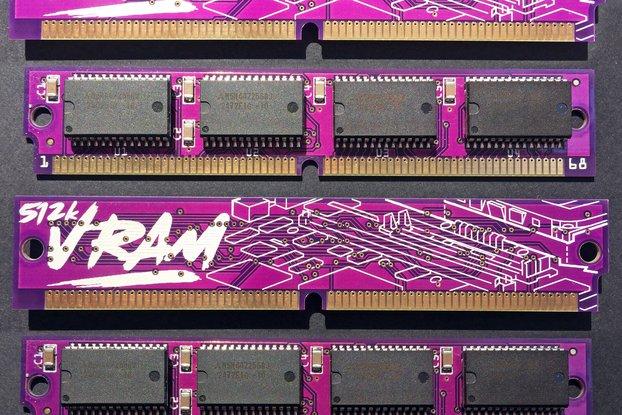 PurpleRAM 512kB 68-pin VRAM SIMM Macintosh