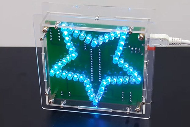Colorful Pentagram Water Light LED DIY Kit (12489)