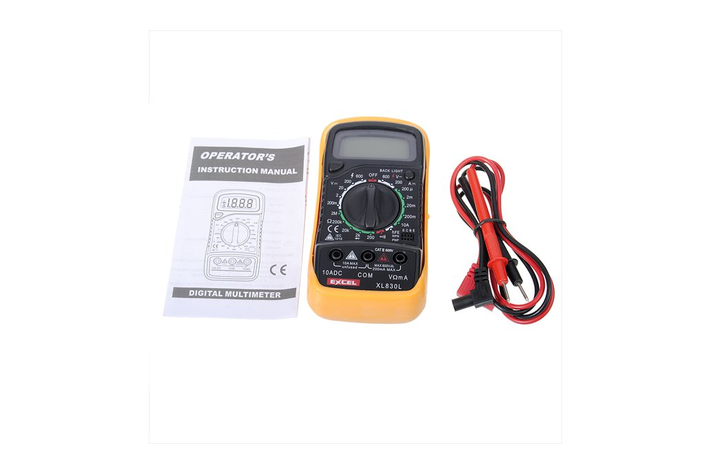 LCD Digital Voltmeter Ohmmeter Ammeter Tester 2