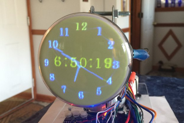 Oscilloscope Clock 3FP7 round Cathode Ray Tube