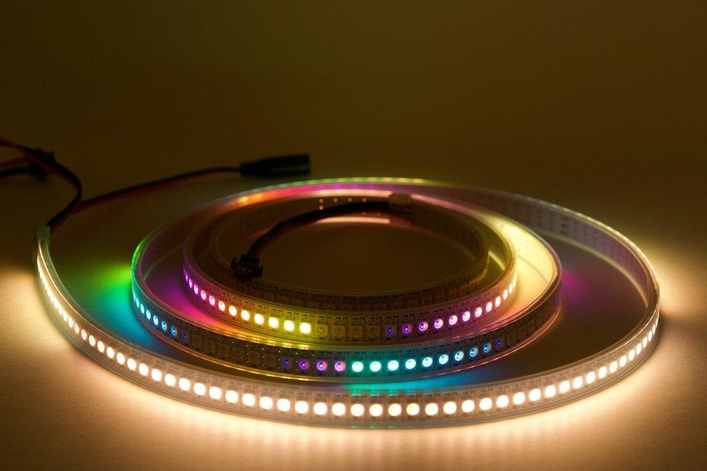 2 meter strip of 144/m SK6812 (WS2812) RGBW LEDs 1