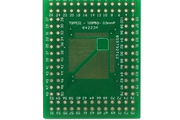 TQFP 32pin – 100pin 0.5mm pitch breakout board x 3