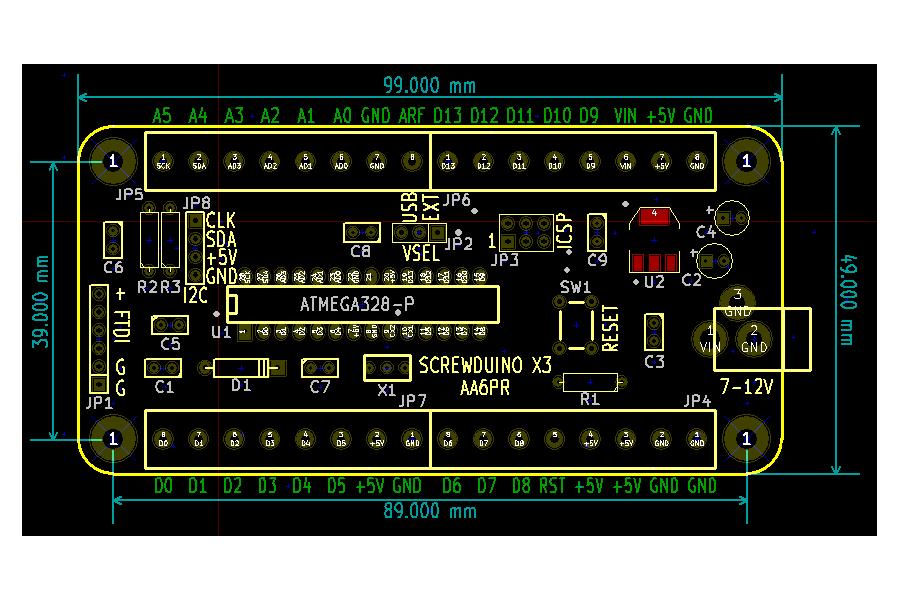 Arduino with screw terminals (Screwduino)