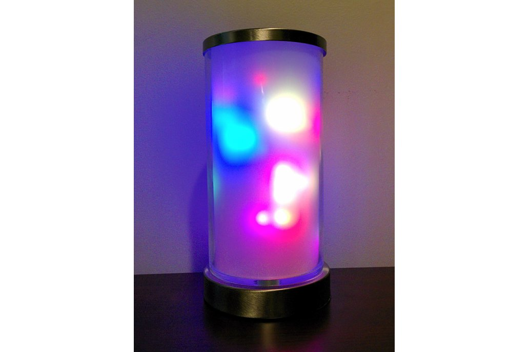 Torch - cylindrical colorful light art display 1