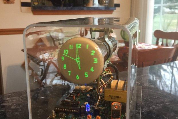 "Oscilloscope Clock 2"" Cathode Ray Tube 2AP1 OSC4.4"